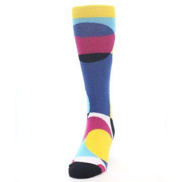 Image of Multi-Color Overlapping Circles Men's Dress Socks (side-2-front-06)