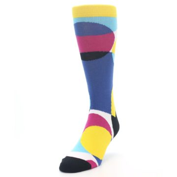 Image of Multi-Color Overlapping Circles Men's Dress Socks (side-2-front-07)
