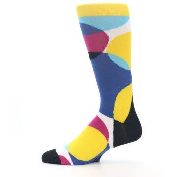 Image of Multi-Color Overlapping Circles Men's Dress Socks (side-2-12)