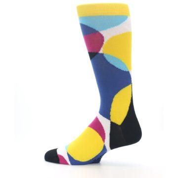 Image of Multi-Color Overlapping Circles Men's Dress Socks (side-2-13)