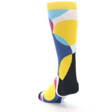 Image of Multi-Color Overlapping Circles Men's Dress Socks (side-2-back-16)
