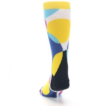 Image of Multi-Color Overlapping Circles Men's Dress Socks (back-17)