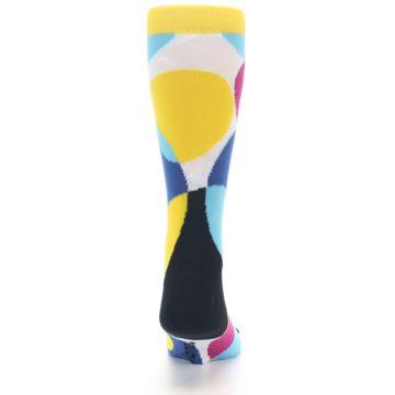 Image of Multi-Color Overlapping Circles Men's Dress Socks (back-19)