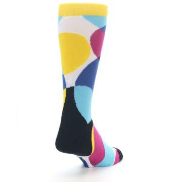 Image of Multi-Color Overlapping Circles Men's Dress Socks (side-1-back-21)