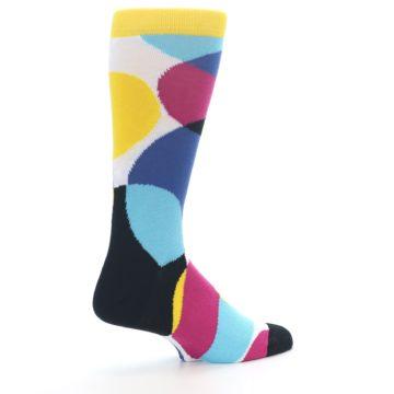 Image of Multi-Color Overlapping Circles Men's Dress Socks (side-1-23)