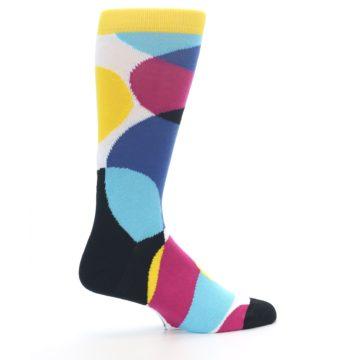 Image of Multi-Color Overlapping Circles Men's Dress Socks (side-1-24)
