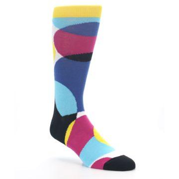 Image of Multi-Color Overlapping Circles Men's Dress Socks (side-1-27)