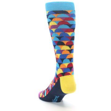 Image of Multi-Color Half-Circles Men's Dress Socks (side-2-back-16)