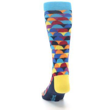 Image of Multi-Color Half-Circles Men's Dress Socks (back-17)
