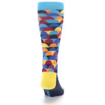 Image of Multi-Color Half-Circles Men's Dress Socks (back-19)