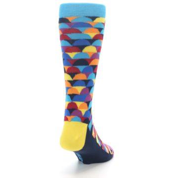 Image of Multi-Color Half-Circles Men's Dress Socks (side-1-back-20)