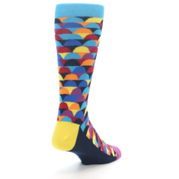 Image of Multi-Color Half-Circles Men's Dress Socks (side-1-back-21)
