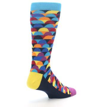 Image of Multi-Color Half-Circles Men's Dress Socks (side-1-back-22)