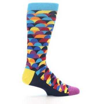Image of Multi-Color Half-Circles Men's Dress Socks (side-1-24)