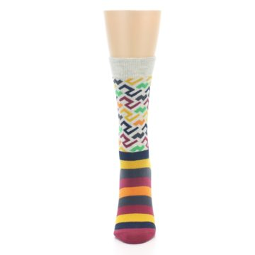 Image of Multi-Color Tread Pattern Women's Dress Socks (front-05)
