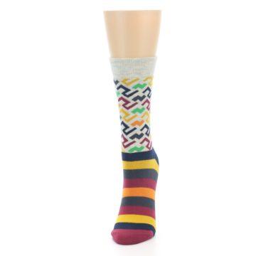 Image of Multi-Color Tread Pattern Women's Dress Socks (side-2-front-06)