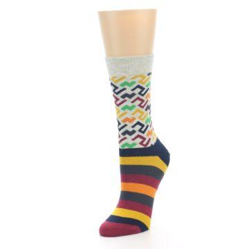 Image of Multi-Color Tread Pattern Women's Dress Socks (side-2-front-08)