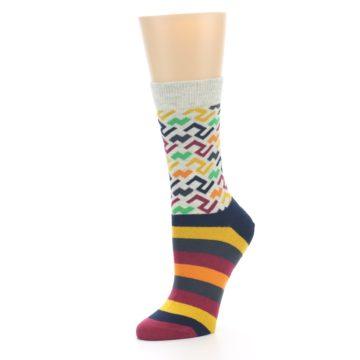 Image of Multi-Color Tread Pattern Women's Dress Socks (side-2-09)