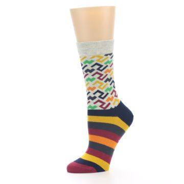 Image of Multi-Color Tread Pattern Women's Dress Socks (side-2-10)