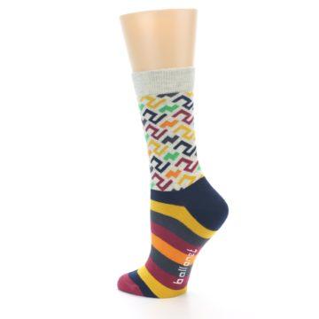 Image of Multi-Color Tread Pattern Women's Dress Socks (side-2-back-14)