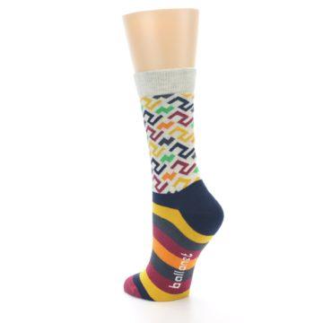 Image of Multi-Color Tread Pattern Women's Dress Socks (side-2-back-15)