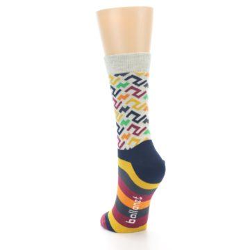 Image of Multi-Color Tread Pattern Women's Dress Socks (side-2-back-16)