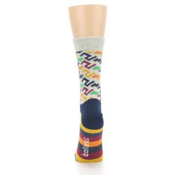 Image of Multi-Color Tread Pattern Women's Dress Socks (back-18)