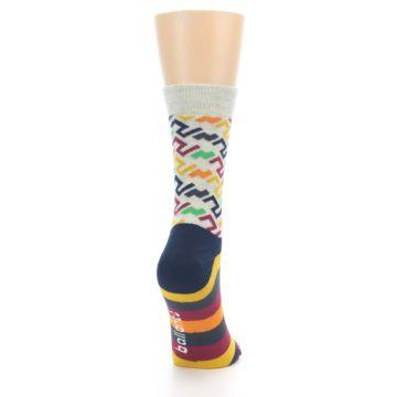 Image of Multi-Color Tread Pattern Women's Dress Socks (side-1-back-20)