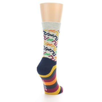 Image of Multi-Color Tread Pattern Women's Dress Socks (side-1-back-21)
