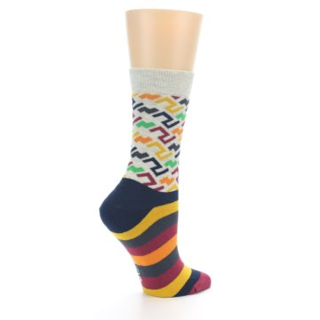 Image of Multi-Color Tread Pattern Women's Dress Socks (side-1-23)