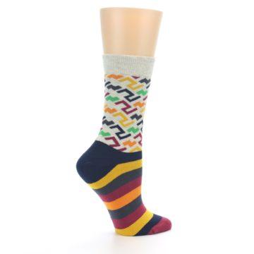 Image of Multi-Color Tread Pattern Women's Dress Socks (side-1-24)