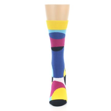 Image of Multi-Color Overlapping Circles Women's Dress Socks (front-05)