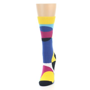Image of Multi-Color Overlapping Circles Women's Dress Socks (side-2-front-06)