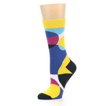 Image of Multi-Color Overlapping Circles Women's Dress Socks (side-2-10)