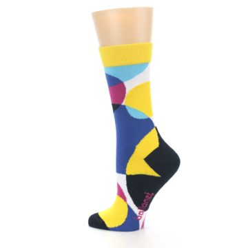 Image of Multi-Color Overlapping Circles Women's Dress Socks (side-2-13)