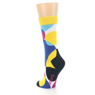 Image of Multi-Color Overlapping Circles Women's Dress Socks (side-2-back-15)