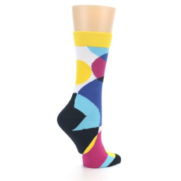 Image of Multi-Color Overlapping Circles Women's Dress Socks (side-1-23)