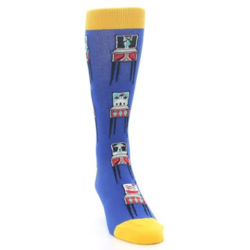 Image of Blue Pinball Machine Men's Dress Socks (side-1-front-03)