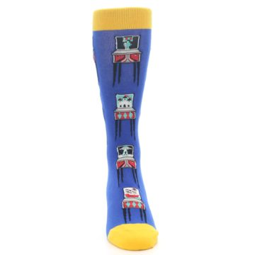 Image of Blue Pinball Machine Men's Dress Socks (front-04)