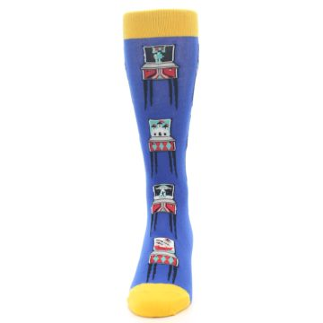 Image of Blue Pinball Machine Men's Dress Socks (front-05)