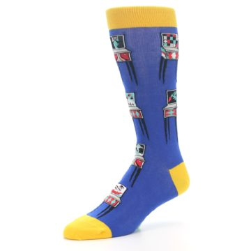 Image of Blue Pinball Machine Men's Dress Socks (side-2-09)
