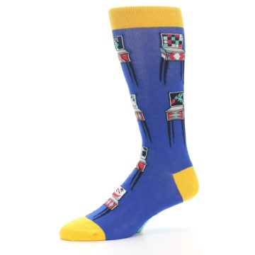 Image of Blue Pinball Machine Men's Dress Socks (side-2-10)