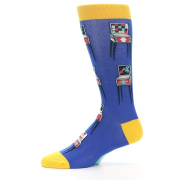 Image of Blue Pinball Machine Men's Dress Socks (side-2-11)