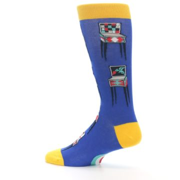 Image of Blue Pinball Machine Men's Dress Socks (side-2-13)