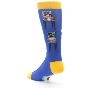 Image of Blue Pinball Machine Men's Dress Socks (side-2-back-15)