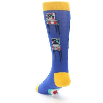 Image of Blue Pinball Machine Men's Dress Socks (side-2-back-16)