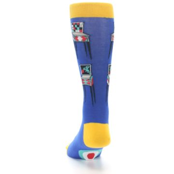 Image of Blue Pinball Machine Men's Dress Socks (back-17)