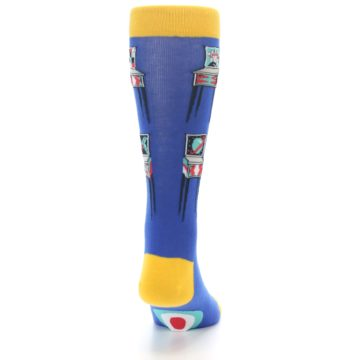 Image of Blue Pinball Machine Men's Dress Socks (back-19)