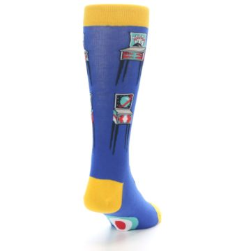 Image of Blue Pinball Machine Men's Dress Socks (side-1-back-20)