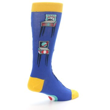 Image of Blue Pinball Machine Men's Dress Socks (side-1-back-22)